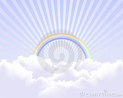 Heaven in the sky background