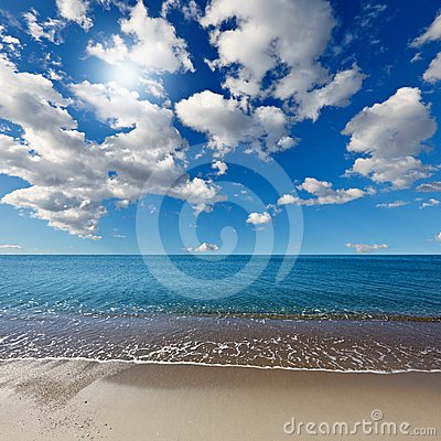 Heavenly beach under the blue sky