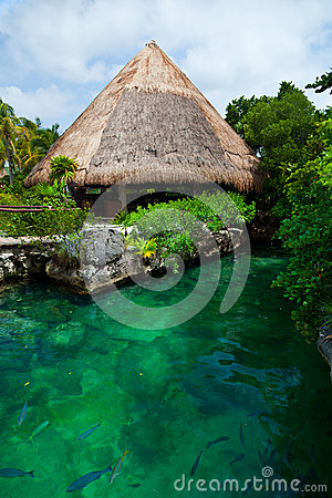 Heavenly lagoon in the Mayan Riviera