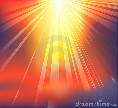 Heavenly light background