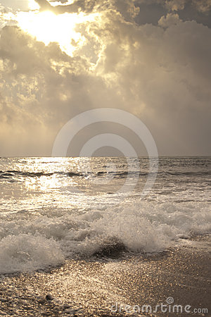 Heavenly sunlight on the waves