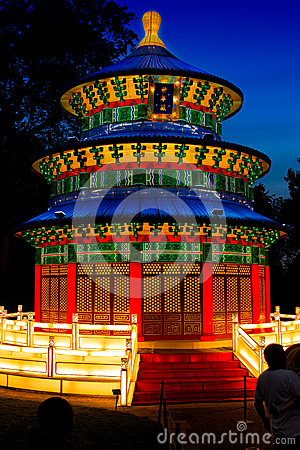 The Heavenly Temple Lantern Editorial Photo