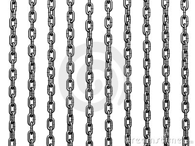 Heavy chain drooping parallel