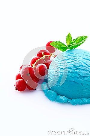 Heavy colored blue cyan icecream ball