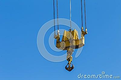 Heavy Crane Hook Blue