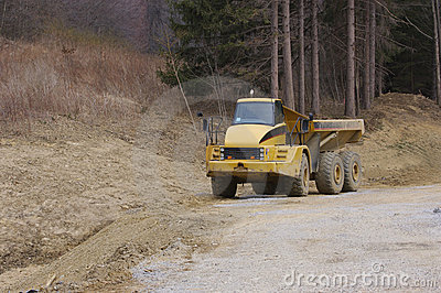 Heavy Dump Truck with Copy Space
