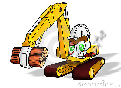 Royalty free stock images heavy duty construction equipment