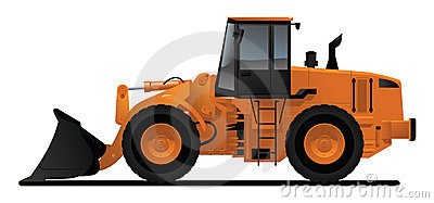Heavy equipment loader