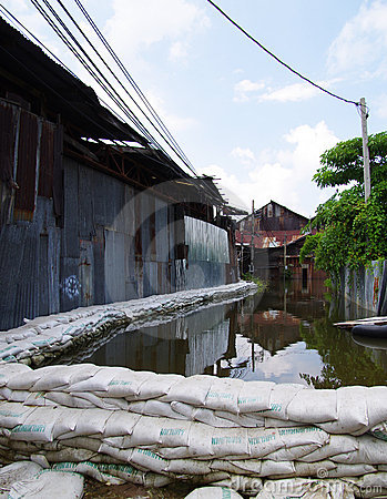 Heavy flooding Editorial Photo