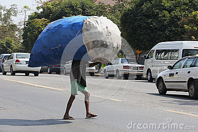 Carrying Heavy Goods - Manual Labor - Myanmar Editorial Stock Image