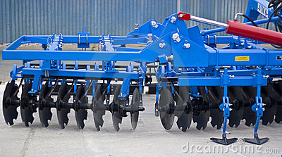 Heavy industrial agriculture machinery