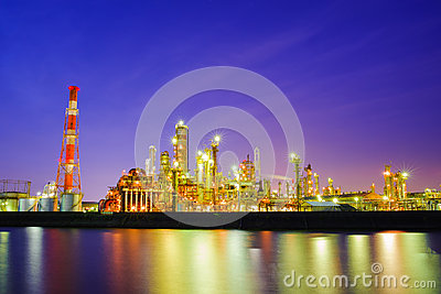 Heavy industry at dusk