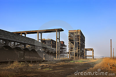 Heavy industry ruins