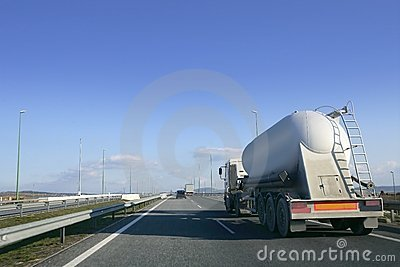 Heavy liquid transportation truck lorry