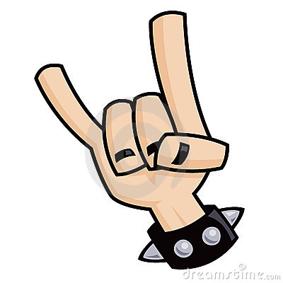 Heavy metal devil horns hand sign