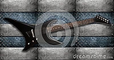 Heavy metal electric guitar
