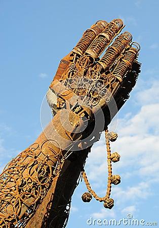 Heavy Metal Hands Praying 2