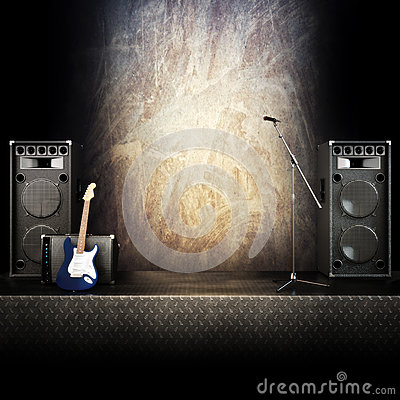 Heavy metal music stage