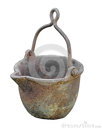 Heavy metal pot isolated.