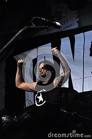 Heavy metal, rock concert live Editorial Stock Image