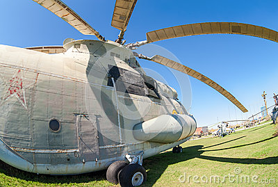 Heavy military transport helicopter Mi-26 Halo Editorial Photo