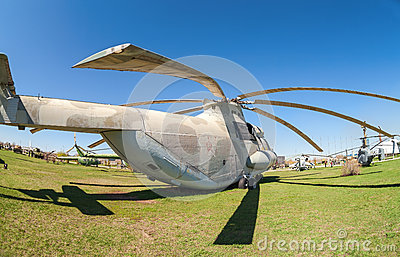 Heavy military transport helicopter Mi-26  Editorial Stock Image