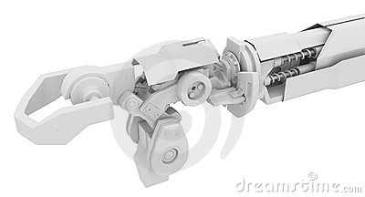 Heavy Robotic Arm, White