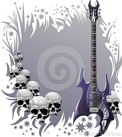 Heavy rock style background