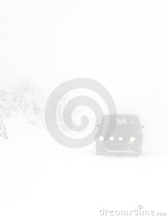 Free Heavy Snow On The Road Stock Images - 12715674