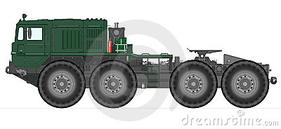 Heavy Soviet tank truck