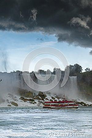 Free Heavy Storm Over Niagara Falls Stock Image - 126937841