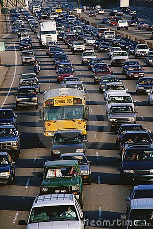 Heavy traffic Editorial Stock Photo