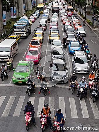 Heavy traffic in Bangkok Editorial Image