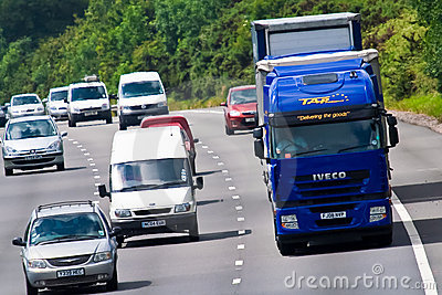 Heavy traffic on motorway Editorial Photography