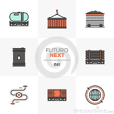 Free Heavy Transportation Futuro Next Icons Stock Image - 122002391