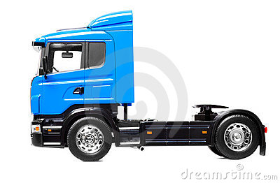 Heavy truck isolated over white