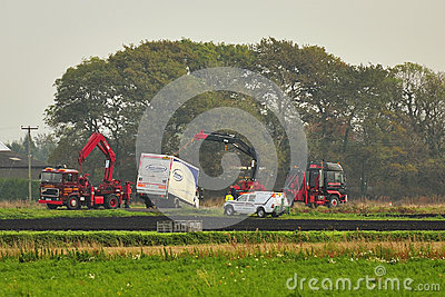 Heavy Truck recovery, England Editorial Photo