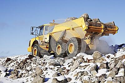 Heavy truck in rough terrain