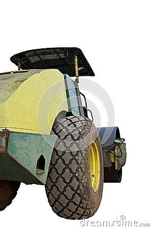 Heavy Vibration roller on thr ground