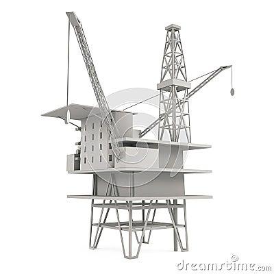 Heavy wharf crane