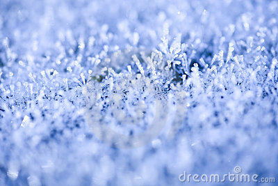Heavy Winter Frost Background