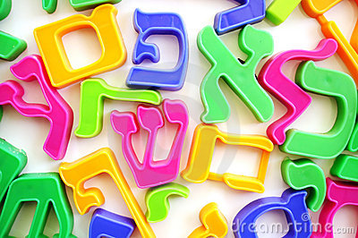 The Hebrew Alphabet Letters