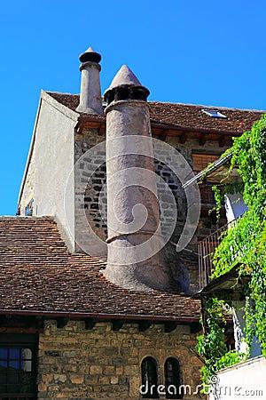 Hecho village chimney Huesca Aragon Pyrenees
