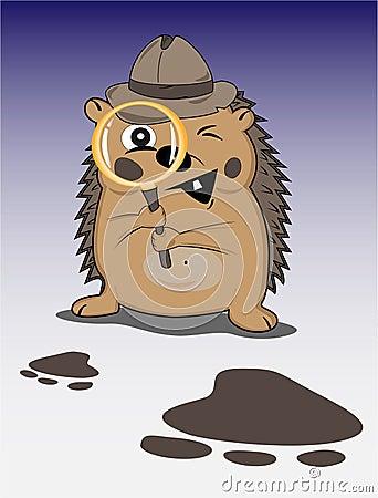 Free Hedgehog Detective Royalty Free Stock Photo - 11513125