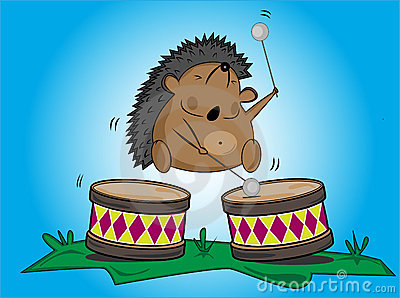 Hedgehog  and drums