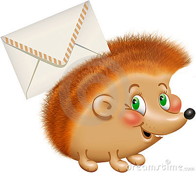 Hedgehog with a letter