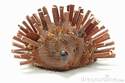 Hedgehog made from branch
