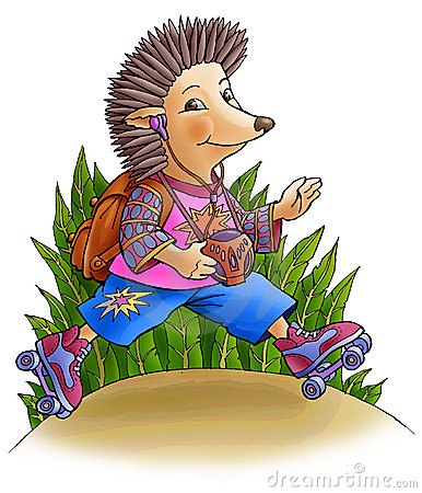 Hedgehog on rollers