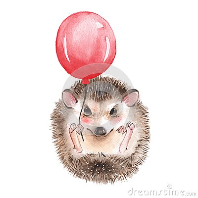 Free Hedgehog With Balloon Royalty Free Stock Image - 93967096