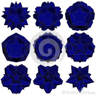 Hedra Star Transformation Structure Shape Vector 14